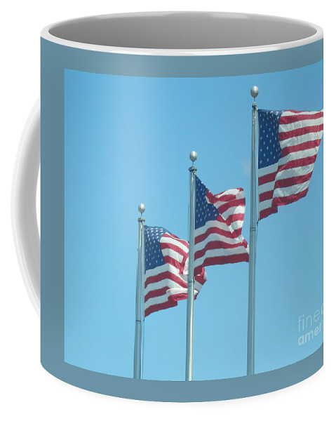 Flags Coffee Mug featuring the photograph The Stars And Stripes by William Presley