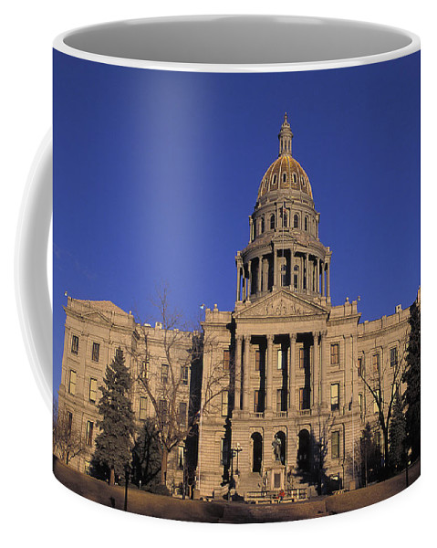 State Coffee Mug featuring the photograph The State Capitol Building by Richard Nowitz