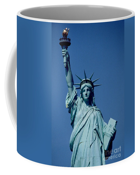 The Coffee Mug featuring the sculpture The Statue of Liberty by American School