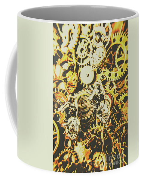 Design Coffee Mug featuring the photograph The Steampunk Heart Design by Jorgo Photography - Wall Art Gallery