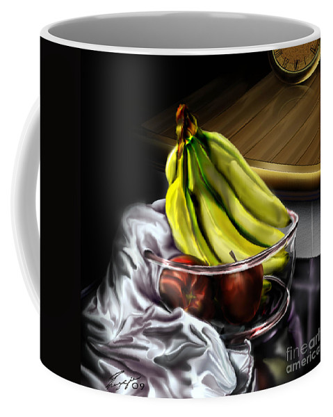 Still Life Painting Coffee Mug featuring the painting The Still Of Peace by Reggie Duffie