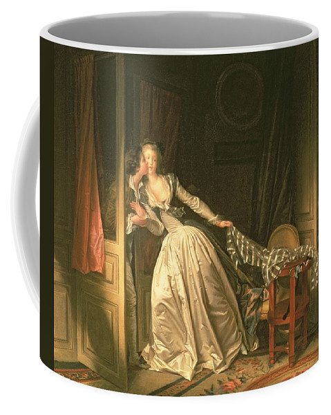 Fragonard Coffee Mug featuring the painting The Stolen Kiss by Jean-Honore Fragonard