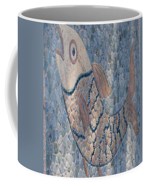Fish Coffee Mug featuring the photograph The Stone Fish by Rob Hans