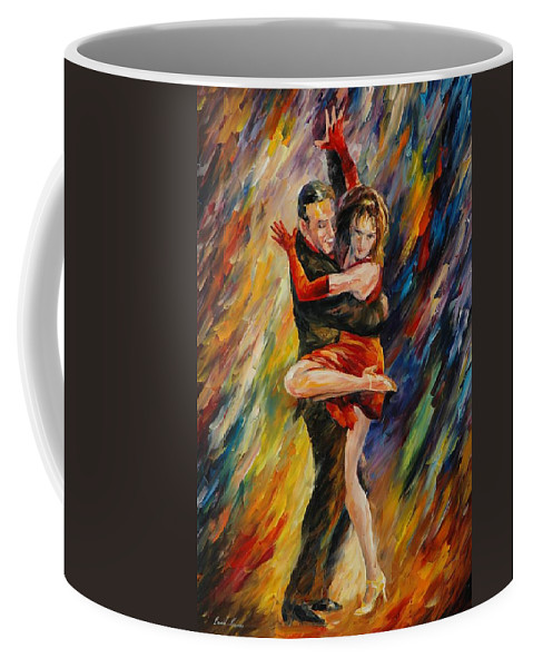 Dance Coffee Mug featuring the painting The Sublime Tango by Leonid Afremov
