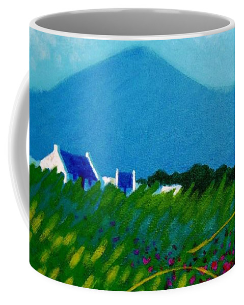 Irish Landscape Coffee Mug featuring the painting The Sugar Loaf County Wicklow Ireland by John Nolan