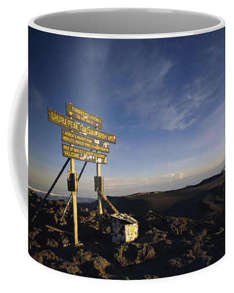 Africa Coffee Mug featuring the photograph The Summit Of Mt. Kilimanjaro, Africas by Bobby Model