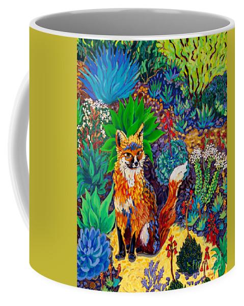 Fox Coffee Mug featuring the painting The Sun Fox by Cathy Carey