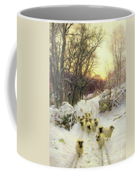 Sunset Coffee Mug featuring the painting The Sun Had Closed The Winter's Day by Joseph Farquharson