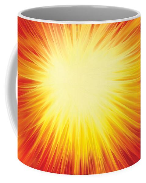 Solar System Coffee Mug featuring the digital art The Sun by Rabi Khan