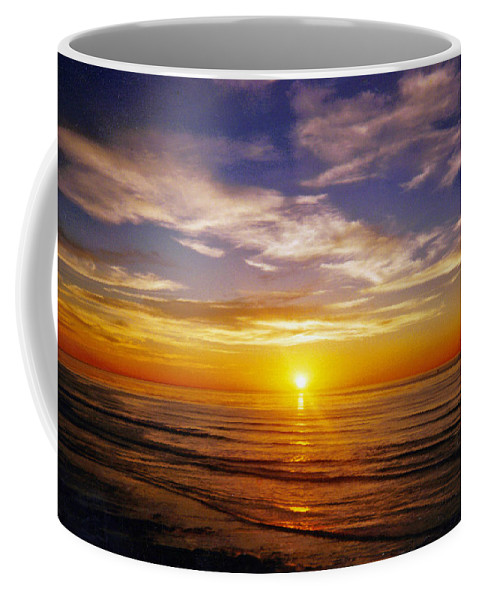 Sunset Coffee Mug featuring the photograph The Sun Says Goodnight by Jean Haynes