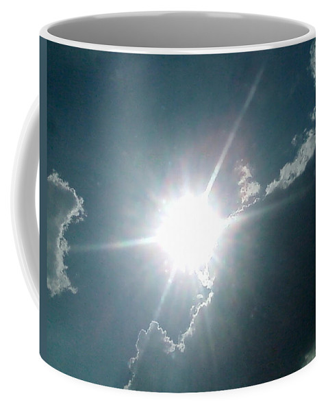 Sun Coffee Mug featuring the photograph The Sun's Beams by Cindy New