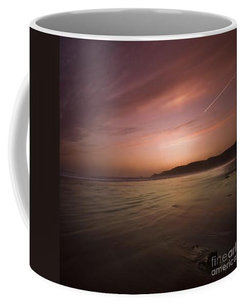 Suset Coffee Mug featuring the photograph The Sunset by Angel Ciesniarska