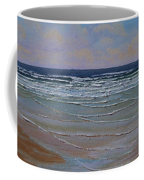 Seascape Coffee Mug featuring the painting The Surf Walker by Frank Wilson