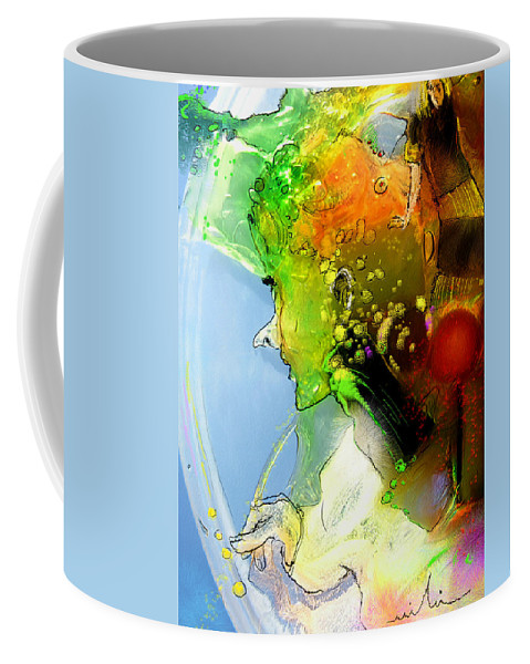 Weird Persons Coffee Mug featuring the painting The Sweeties 01 by Miki De Goodaboom