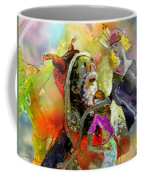 Fantasy Coffee Mug featuring the painting The Sweeties 03 by Miki De Goodaboom