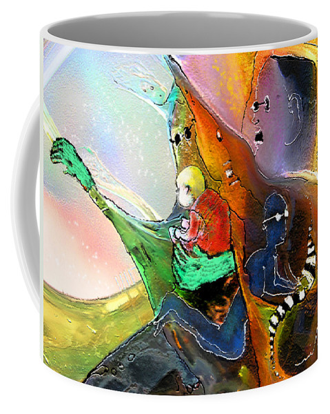 Fantasy Coffee Mug featuring the painting The Sweeties 04 by Miki De Goodaboom