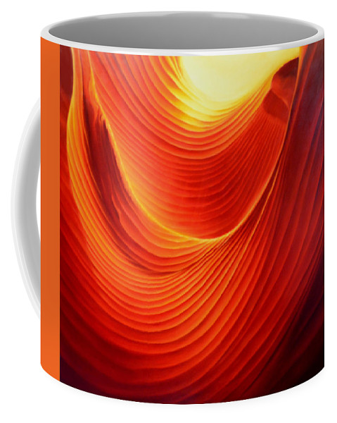 Antelope Canyon Coffee Mug featuring the painting The Swirl by Anni Adkins
