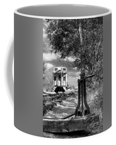 Caboose Coffee Mug featuring the photograph The Switch And The Caboose by James Eddy