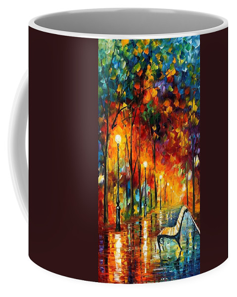 Afremov Coffee Mug featuring the painting The Symphony Of Light by Leonid Afremov