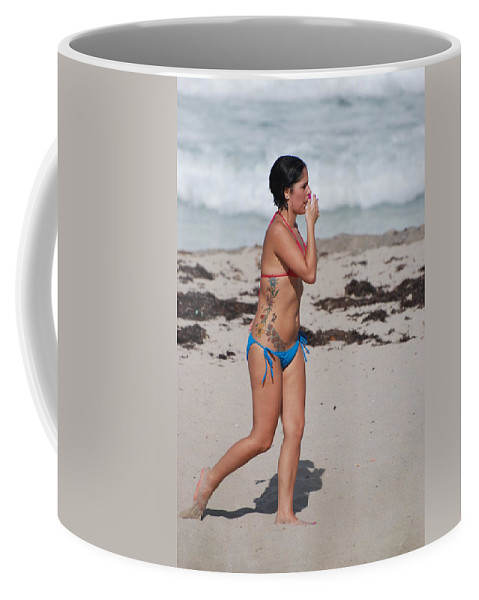 Sexy Coffee Mug featuring the photograph The Tattooed Lady by Rob Hans