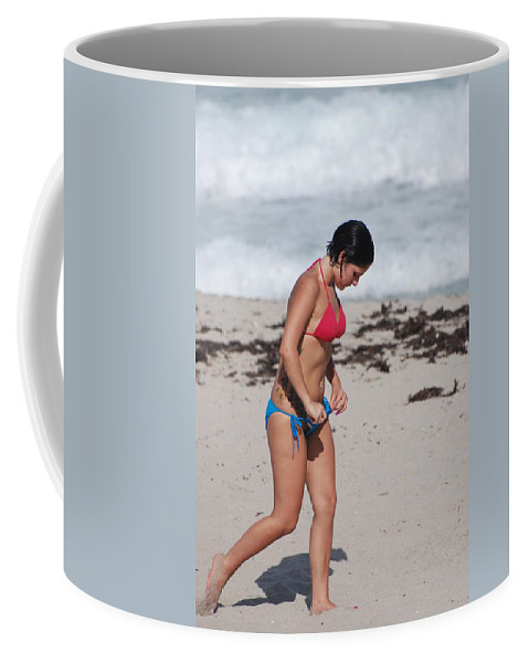 Sexy Coffee Mug featuring the photograph The Tattooed Ladys Peek A Boo by Rob Hans
