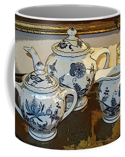 Tea Coffee Mug featuring the photograph The Tea Set by Shirley Sykes Bracken