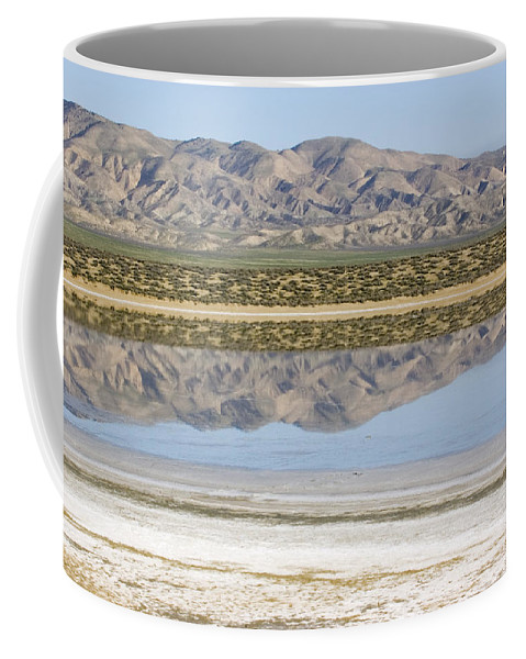 Mountains Coffee Mug featuring the photograph The Temblor Range Is Reflected In Soda by Rich Reid