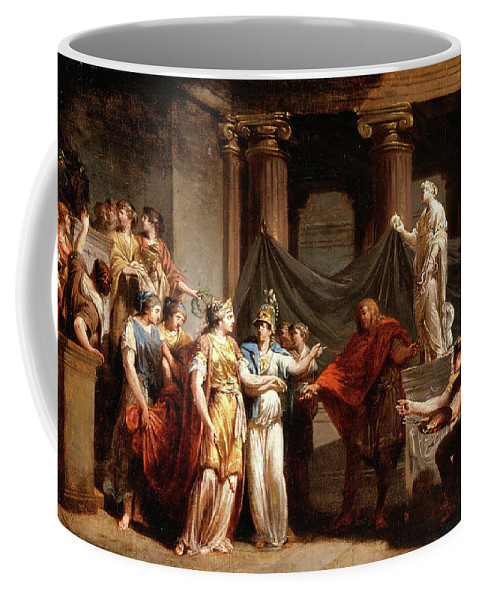 Jacques Sablet Coffee Mug featuring the painting The Temple Of The Liberal Arts With The City Of Bern And Minerva by Jacques Sablet