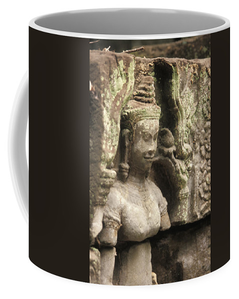 Angkor Wat Coffee Mug featuring the photograph The Temples Of Angkor, Preah Khan by Richard Nowitz