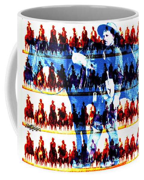Cowboys Coffee Mug featuring the digital art The Tenderfoot by Seth Weaver