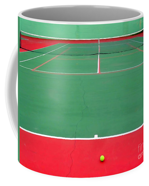 Digital Painting Coffee Mug featuring the digital art The Tennis Court by Ed Weidman