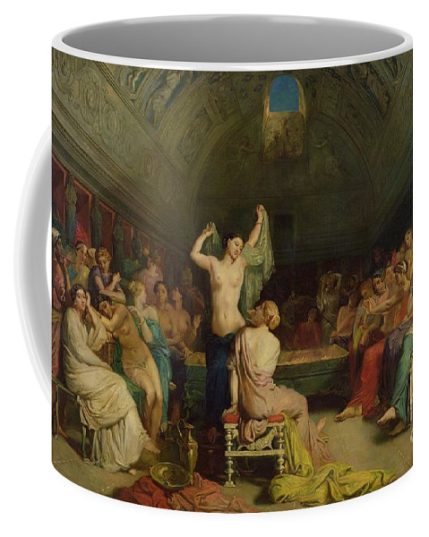 The Coffee Mug featuring the painting The Tepidarium by Theodore Chasseriau