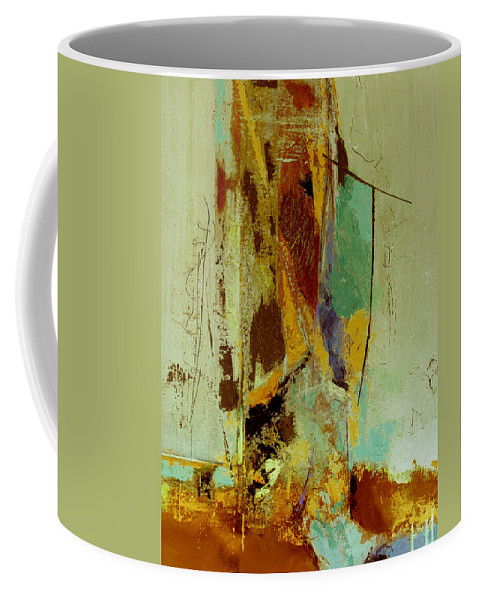 Abstract Coffee Mug featuring the painting The Testimony by Ruth Palmer