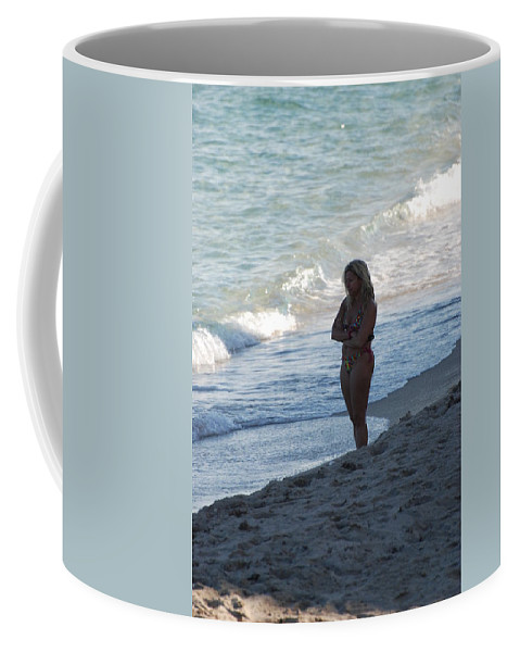 Sea Scape Coffee Mug featuring the photograph The Thinking Women by Rob Hans