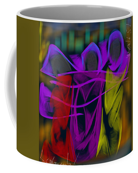 Coffee Mug featuring the digital art The Three Graces by Christos Stavridis