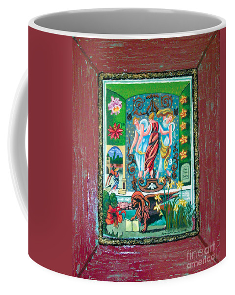 Women Coffee Mug featuring the painting The Three Sisters by Genevieve Esson