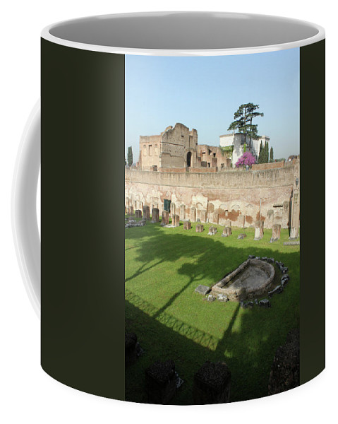 Rome Coffee Mug featuring the photograph The Three Trees by Munir Alawi