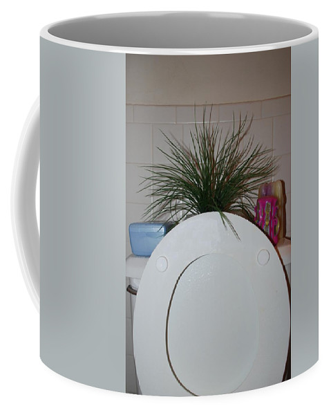 Toilet Coffee Mug featuring the photograph The Throne by Rob Hans