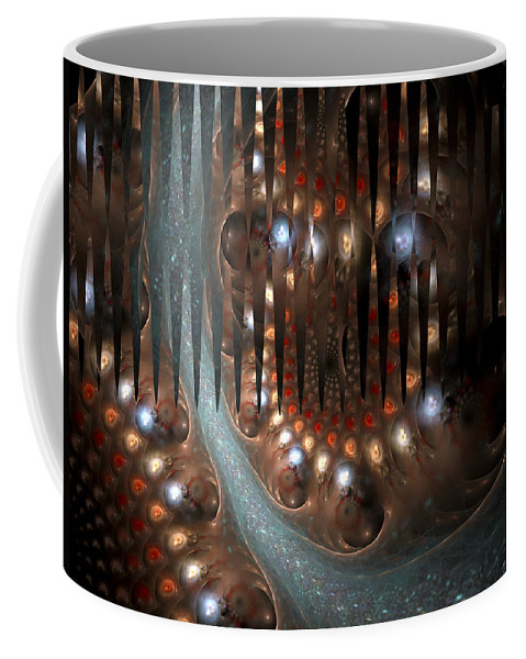 Fractal Coffee Mug featuring the digital art The Tide by Amorina Ashton