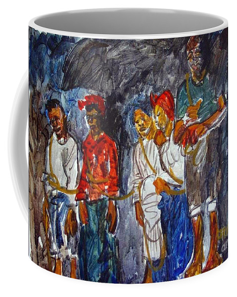 Chains Coffee Mug featuring the painting The Tie That Binds by Charles M Williams