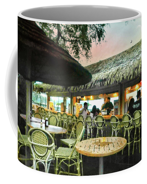 Tiki Bar Coffee Mug featuring the photograph The Tiki Bar by Diana Angstadt