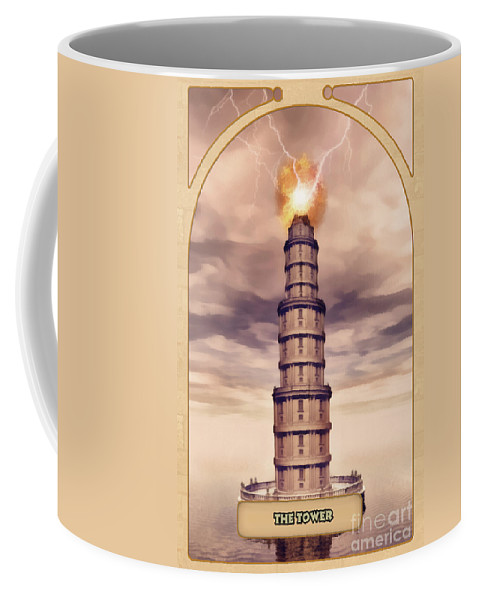 Magic Coffee Mug featuring the digital art The Tower by John Edwards