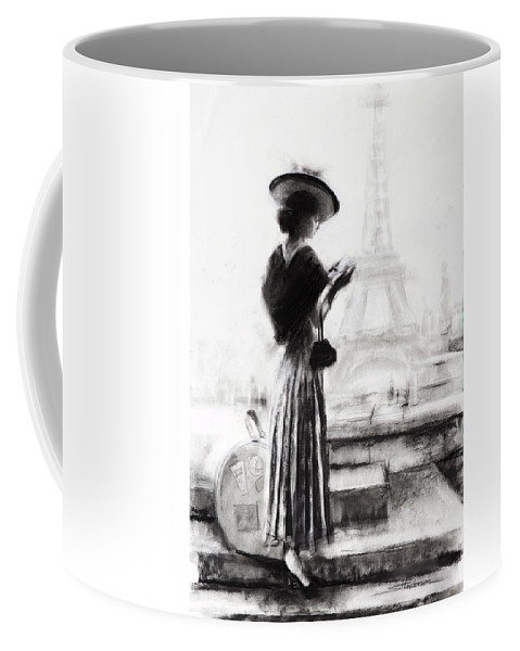 Woman Coffee Mug featuring the painting The Traveler by Steve Henderson