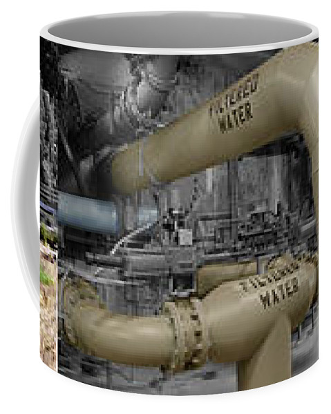 The Treatment Of Water Coffee Mug featuring the photograph The Treatment Of Water by Peter Piatt
