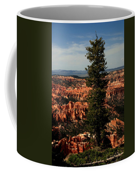 Bryce Canyon Coffee Mug featuring the photograph The Tree In Bryce Canyon by Susanne Van Hulst