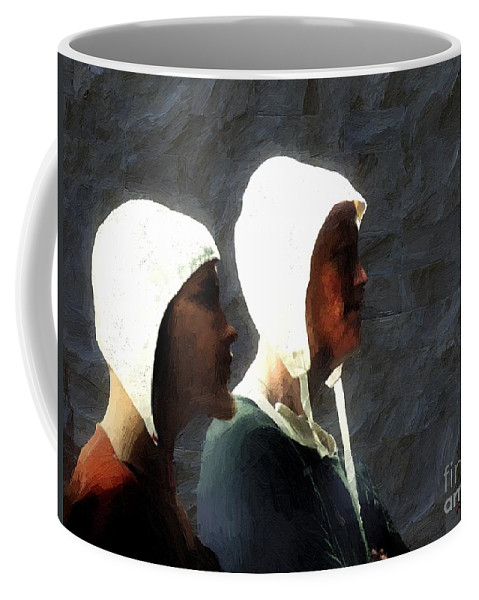Men Coffee Mug featuring the painting The Trial Of The Heretics by RC DeWinter