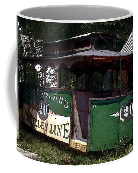 Trolley Coffee Mug featuring the digital art The Trolley Out Back by RC DeWinter