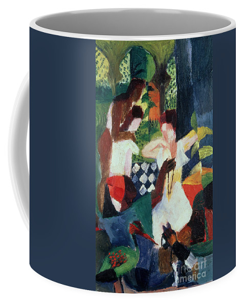 The Coffee Mug featuring the painting The Turkish Jeweller by August Macke