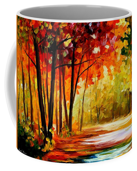 Afremov Coffee Mug featuring the painting The Turn Of Fortune by Leonid Afremov