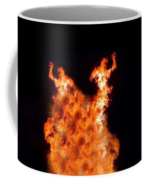 Fire Coffee Mug featuring the photograph The Twin by Munir Alawi